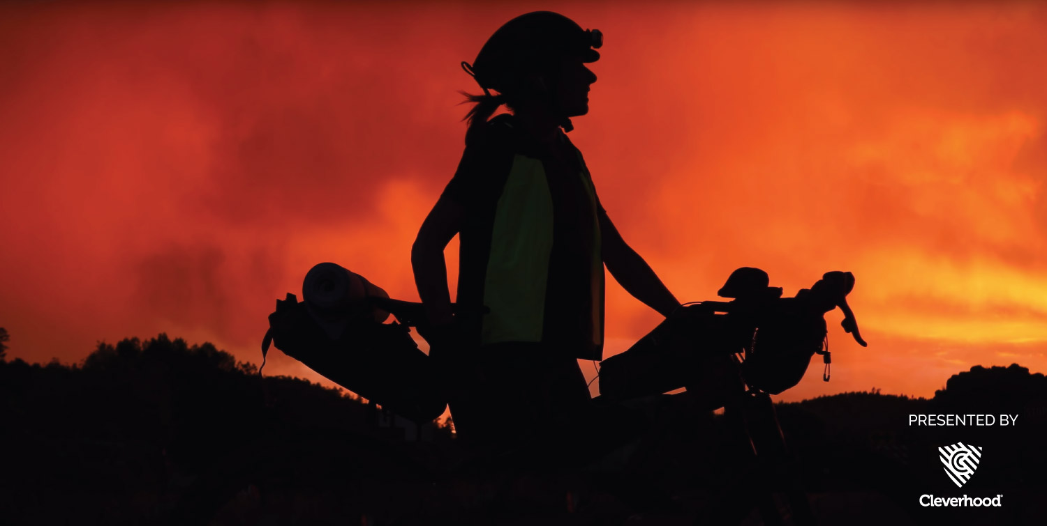 Filmed by Bike - world's best bike movies a film still featuring Lael Wilcox on her bike